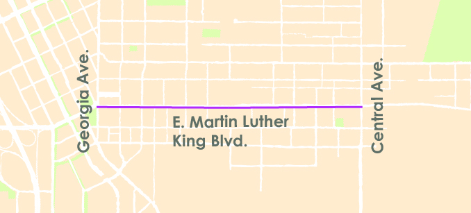 MLK Paving Map